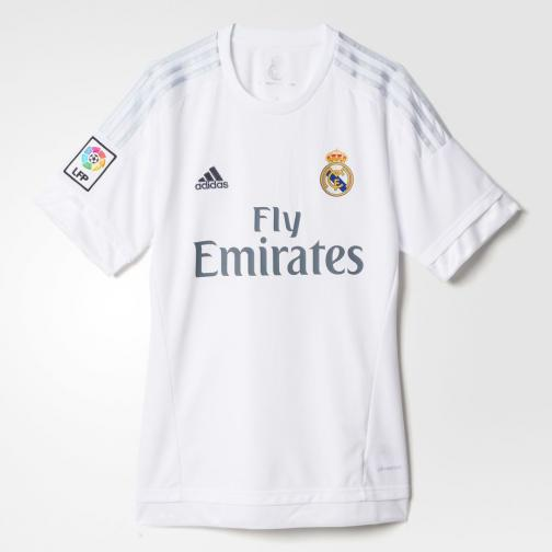 Adidas Maillot De Match Home Real Madrid Enfant  15/16 White / Clear Grey