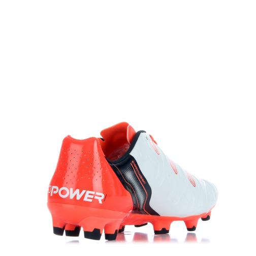 Football Shoes Evopower 1.2 Fg white-total eclipse-fiery coral FIGC Store
