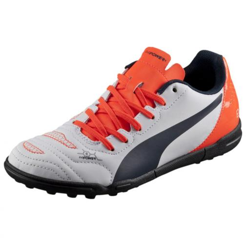 Puma Futsal-schuhe Evopower 4.2 Tt Jr  Juniormode white-total eclipse-lava blast Tifoshop