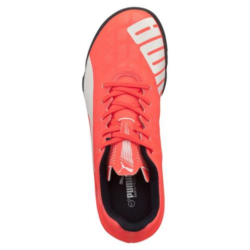 Puma Chaussures De Futsal Evospeed 5.4 Tt Jr  Enfant lava blast-white-total eclipse Tifoshop