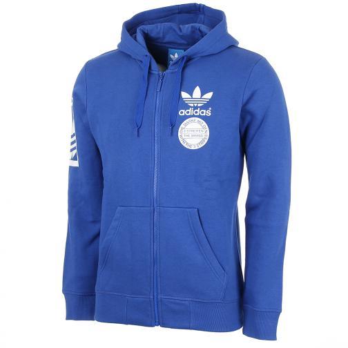 Adidas Originals Sweat Street Graphic Hooded Blue
