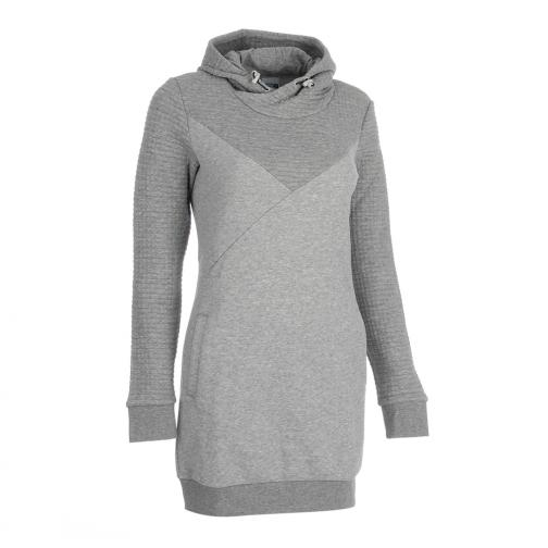 Puma Sweatshirt Quilted Sweat Dress  Damenmode athletic gray heather Tifoshop