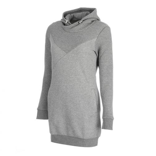 Puma Sweatshirt Quilted Sweat Dress  Damenmode athletic gray heather