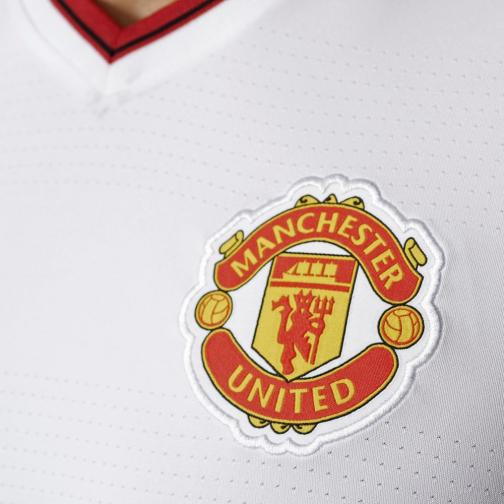 Adidas Maillot De Match Away Manchester United   15/16 White / Red Tifoshop