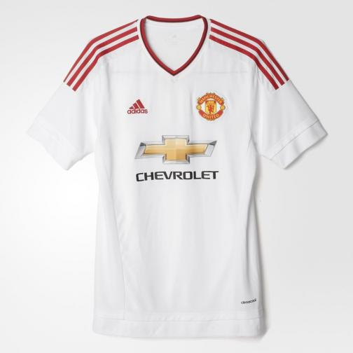 Adidas Maillot De Match Away Manchester United   15/16 White / Red