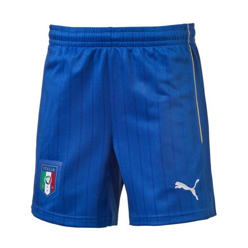 Figc Italia Kids Away Shorts Replica Team Power Blue-white FIGC Store