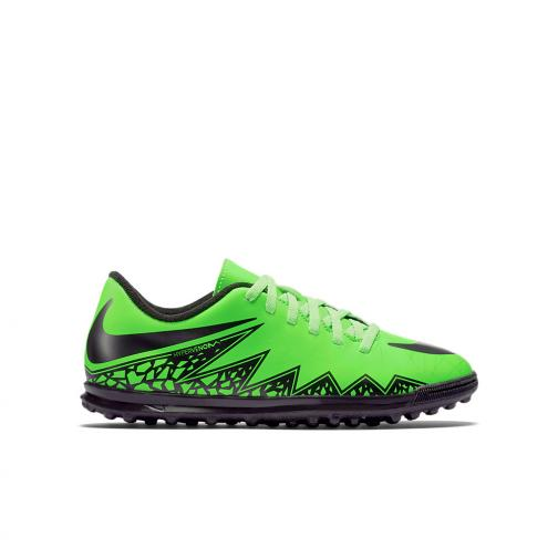 Nike Futsal-schuhe Jr. Hypervenom Phade Tf  Juniormode Green Black