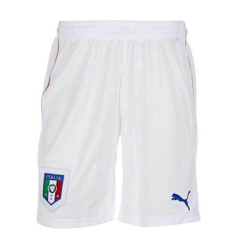 Puma Shorts Home Italy   16/18 white-team power blue