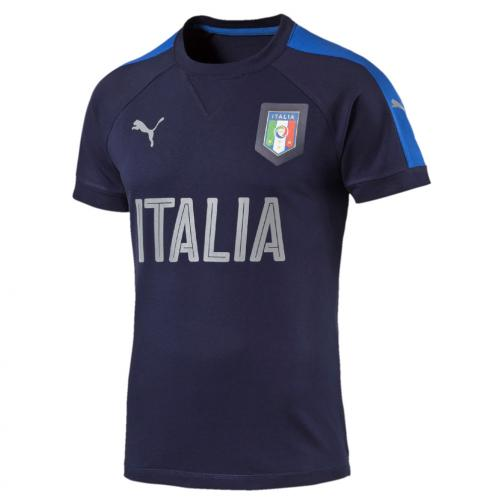 Puma T-shirt Figc Casual T-shirt Italy Juniormode peacoat-team power blue
