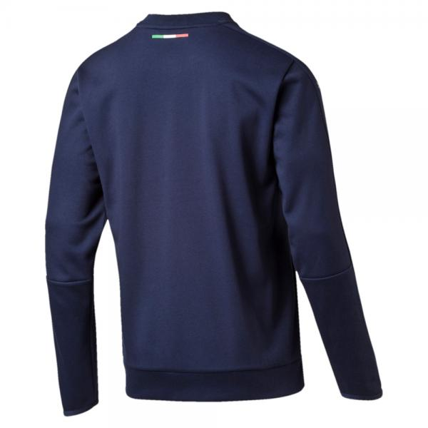 Puma Sweatshirt Figc Casual Crewneck Sweater Italy peacoat-team power blue Tifoshop