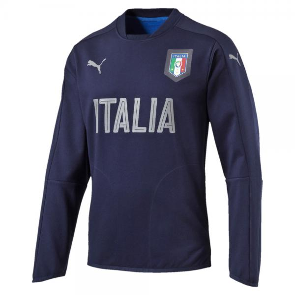 Puma Sweatshirt Figc Casual Crewneck Sweater Italy peacoat-team power blue