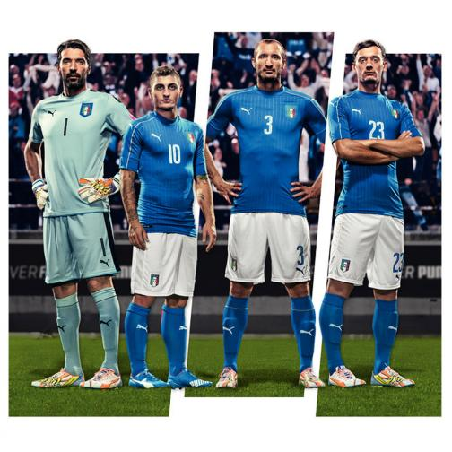 Figc Italia Home Shirt Replica team power blue-white FIGC Store