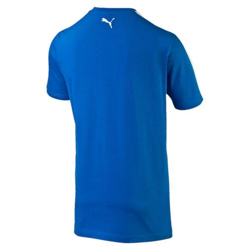 Figc  Fanwear Badge Tee Junior team power blue-white FIGC Store