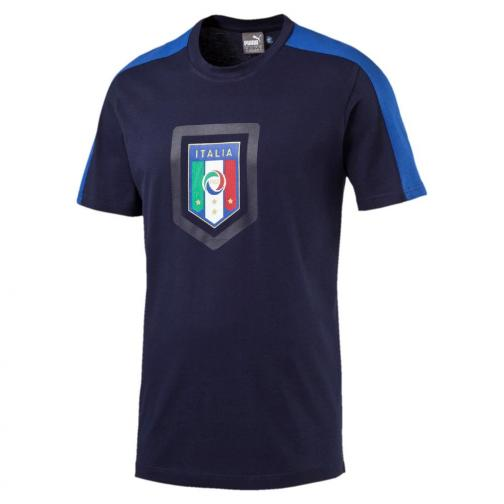 Figc  Fanwear Badge Tee Junior peacoat-team power blue FIGC Store