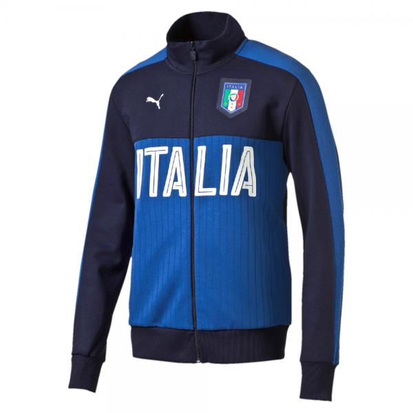 Puma Sweat Figc  Fanwear Track Jacket Italy peacoat-team power blue