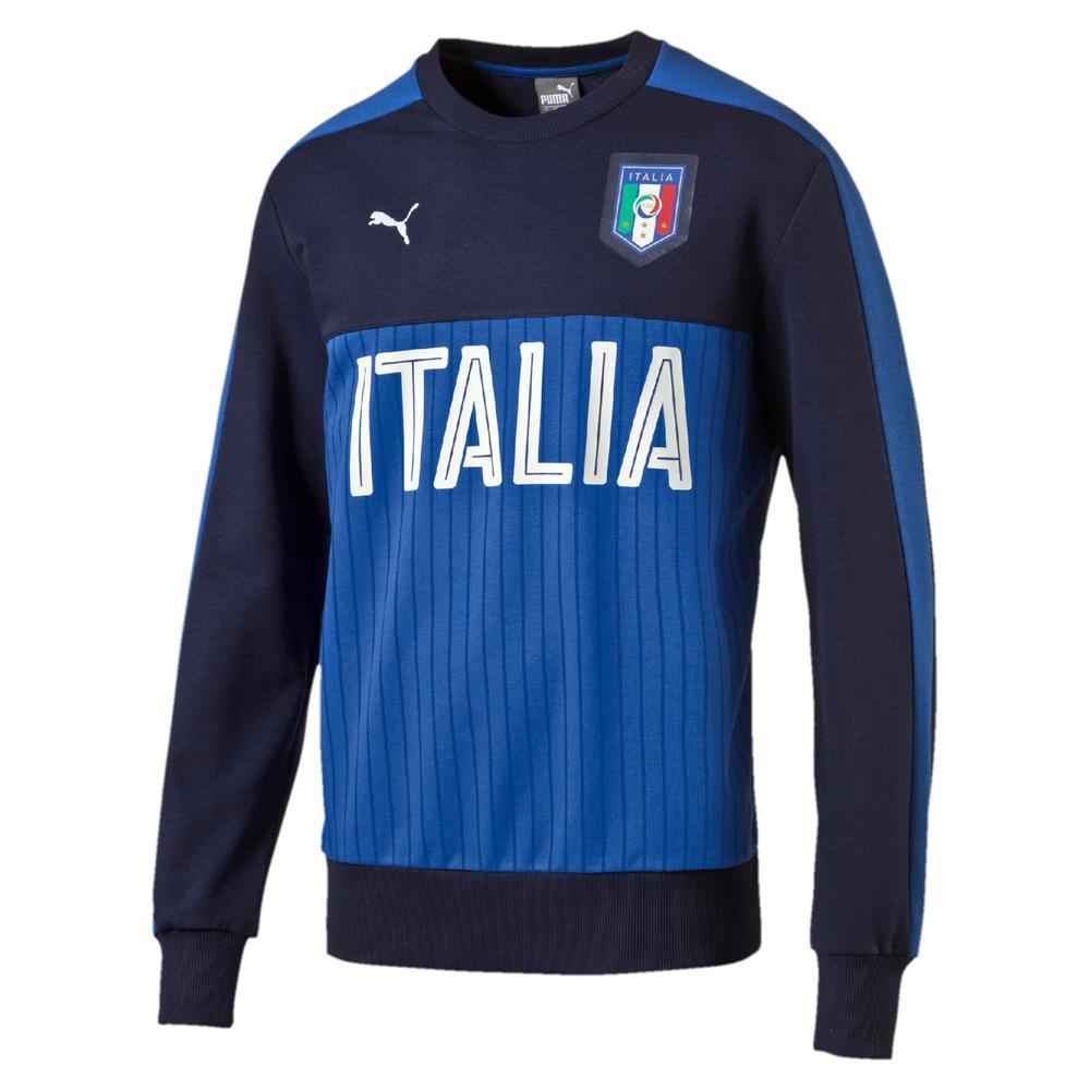 Puma Felpa Figc Fanwear Crewneck Sweat Italia