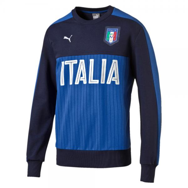 Puma Felpa Figc Fanwear Crewneck Sweat Italia Blu