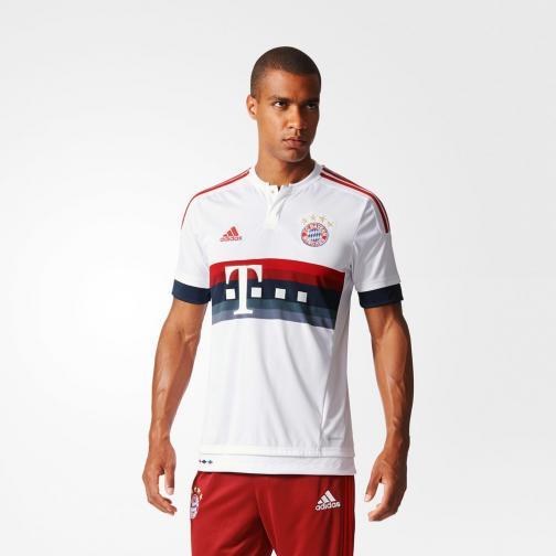 Adidas Maillot De Match Away Bayern Monaco   15/16 White / Power Red Tifoshop