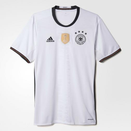 Adidas Maillot De Match Home Germany   16/18 White/Black