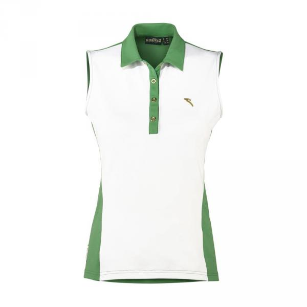 Polo Woman AMORE 57658 White Green Chervò
