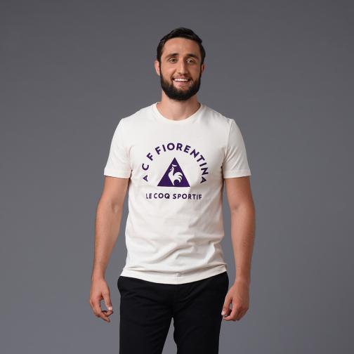 Le Coq Sportif T-shirt Allenamento Fiorentina Beige Tifoshop