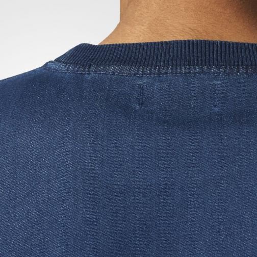 Adidas Originals Sweatshirt French Terry Denim Crew Medium Blue Denim Tifoshop