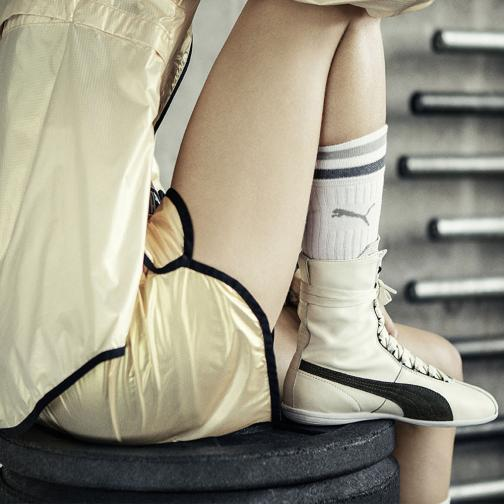 Puma Chaussures Eskiva Hi Wn's  Femmes whisper white-black Tifoshop