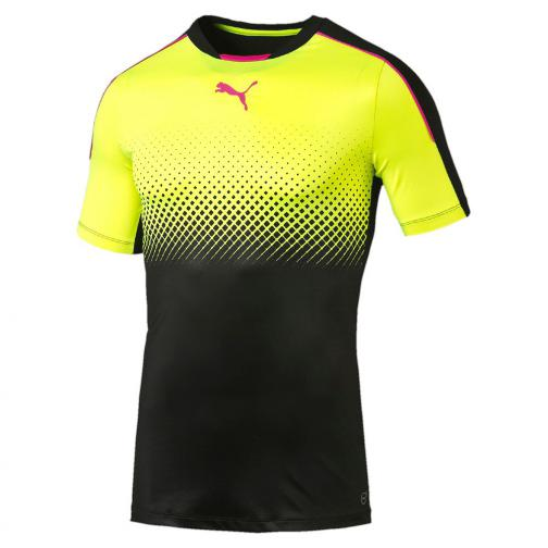 Puma Maillot It Evotrg Thermo-r Actv Tee black-safety yellow