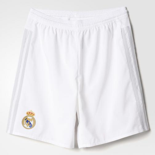 Adidas Shorts Home Real Madrid Juniormode  15/16 White / Clear Grey