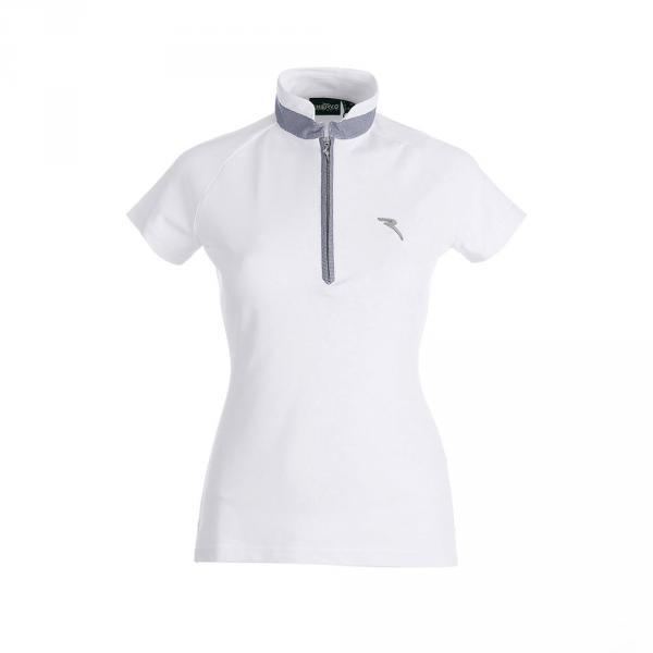 Poloshirt Damen AFRO 59836 WHITE BLUE Chervò