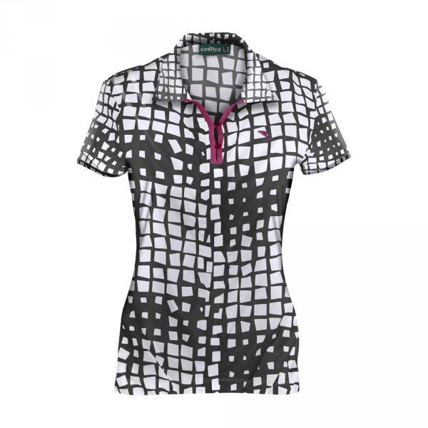 Poloshirt Damen ALLELUIA 59729 BLACK WHITE Chervò