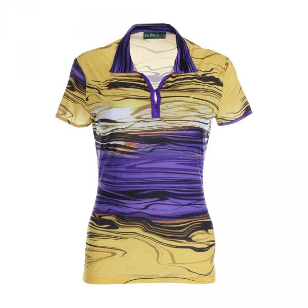 Poloshirt Damen ALLELUIA 59729 YELLOW PURPLE Chervò