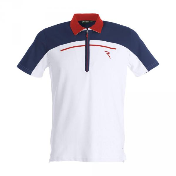 Polo Homme ALTURA 59320 WHITE BLUE ORANGE Chervò