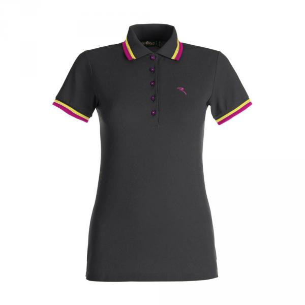 Polo Woman ANGUELANEW 56720 BLACK FUCHSIA YELLOW WHITE Chervò