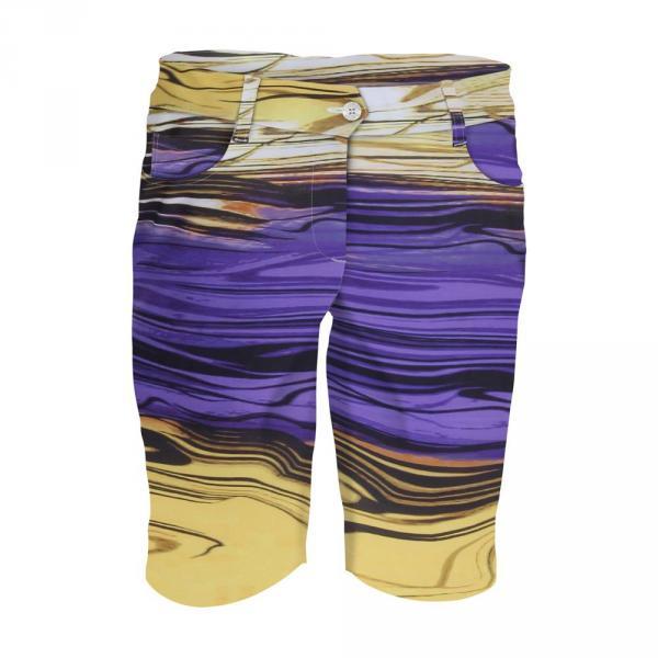 Shorts Woman GAMBA 59769 YELLOW PURPLE Chervò