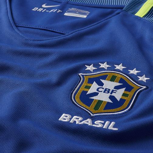 Nike Maglia Gara Away Brasile Junior  16/18 Blu Tifoshop