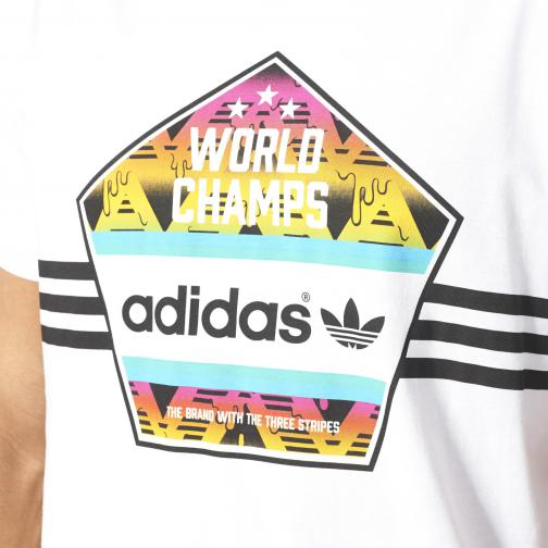 Adidas Originals T-shirt World Champs Tee White Tifoshop