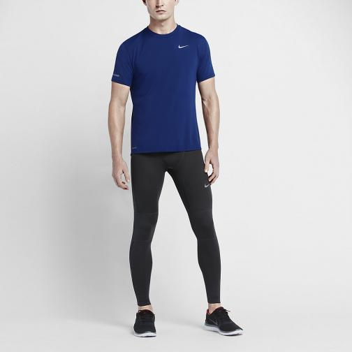 Nike T-shirt Dri-fit Contour Ss DEEP ROYAL BLUE/REFLECTIVE SILV Tifoshop