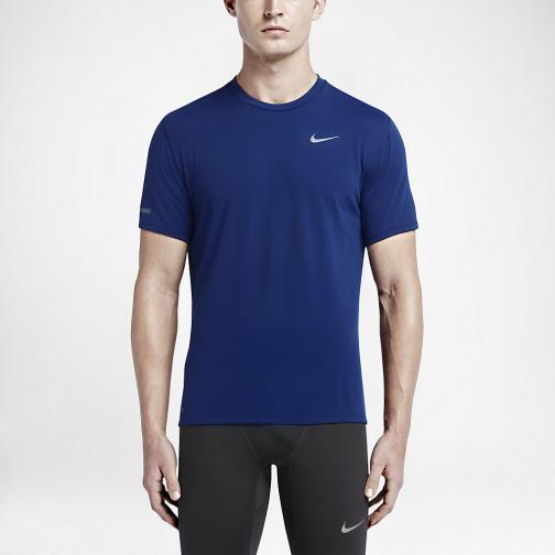 Nike T-shirt Dri-fit Contour Ss DEEP ROYAL BLUE/REFLECTIVE SILV
