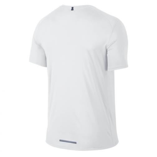 Nike T-shirt Dri-fit Miler Ss WHITE/REFLECTIVE SILV Tifoshop