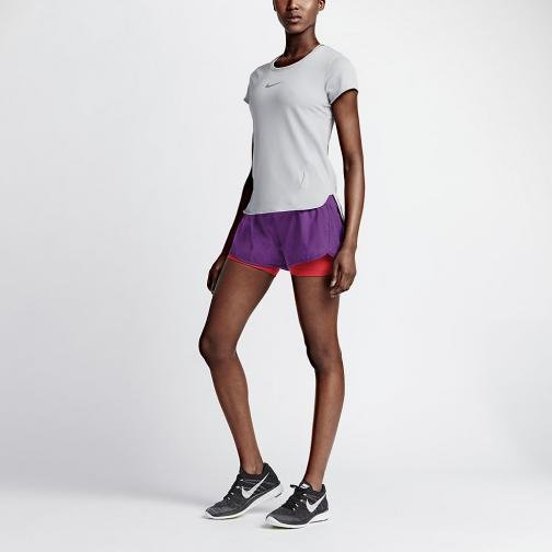 Nike Shorts 7,5 Cm Rival Jacquard 2-in-1  Femmes COSMIC PURPLE/BLACK/REFLECTIVE SILV Tifoshop