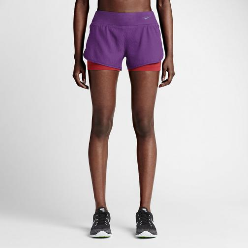 Nike Shorts 7,5 Cm Rival Jacquard 2-in-1  Femmes COSMIC PURPLE/BLACK/REFLECTIVE SILV
