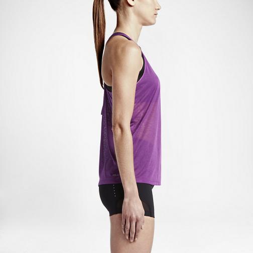 Nike Unterhemd Dri-fit Cool Breeze Strappy  Damenmode COSMIC PURPLE/BLACK/REFLECTIVE SILV Tifoshop