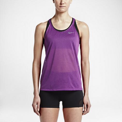 Nike Unterhemd Dri-fit Cool Breeze Strappy  Damenmode COSMIC PURPLE/BLACK/REFLECTIVE SILV