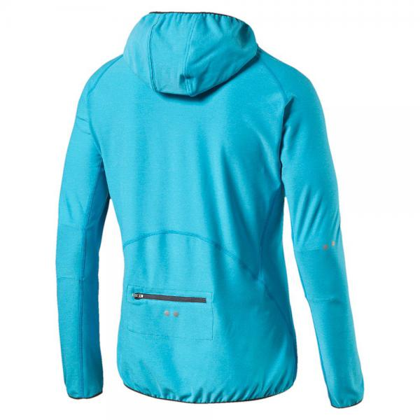Puma Trikot L/s Hooded Top atomic blue heather Tifoshop