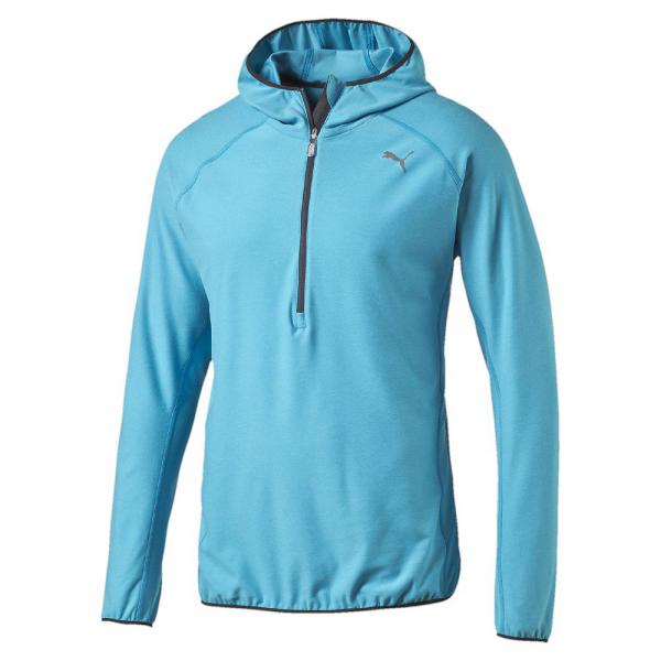 Puma Trikot L/s Hooded Top atomic blue heather