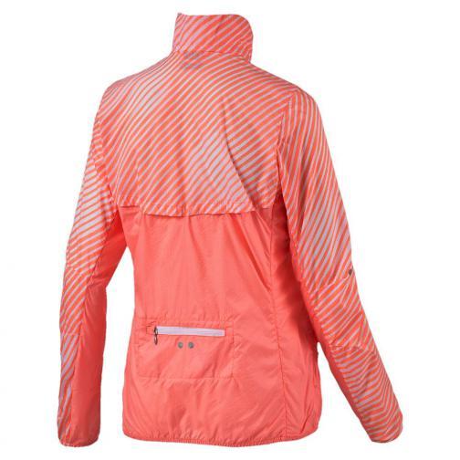 Puma Jacke Graphic Woven Jacket W  Damenmode white-fluo peach Tifoshop