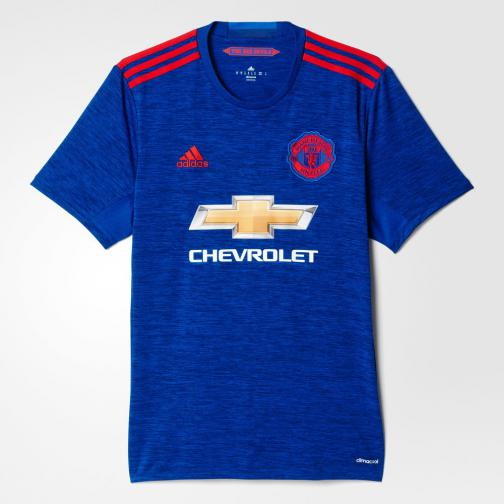 Adidas Maillot De Match Away Manchester United   16/17 Collegiate Royal / Real Red