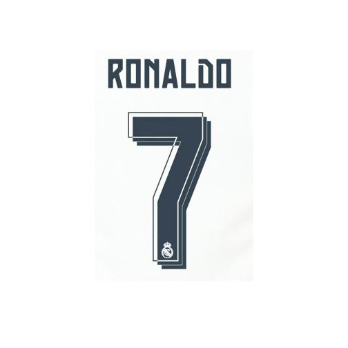 Sporting Id Scritta E Numero Ufficiale  Real Madrid Junior  15/16 Grigio