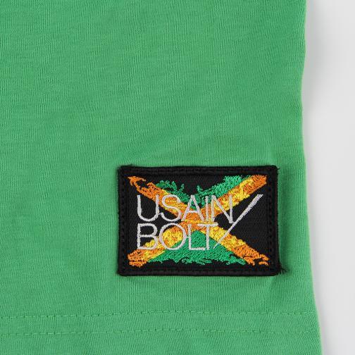 T-shirt Run  Usain Bolt Verde Vintage UsainBolt